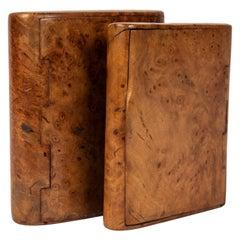 Two Russian Palisander Birchwood Cigarette Cases, circa 1900