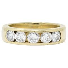 Vintage 2.75 Carat Diamond 18 Karat Gold Men's Ring
