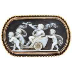 T. B. Starr Victorian Hardstone 14 Karat Rose Gold Cameo Brooch