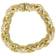 Bulgari 2.10 Carat Diamond 18 Karat Gold Link Bracelet
