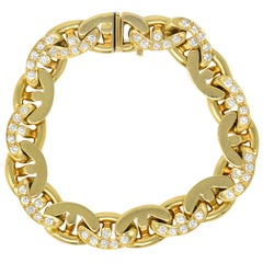 Bulgari Contemporary 2.10 Carat Diamond 18 Karat Gold Link Bracelet