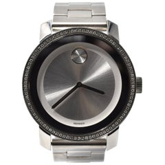 Movado Bold Diamond Stainless Steel Ladies Wristwatch