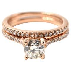 0.74 Carat Diamond 18 Karat Rose Gold Engagement Ring