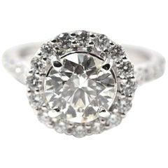 2.01 Carat Diamond 18 Karat White Gold Engagement Ring