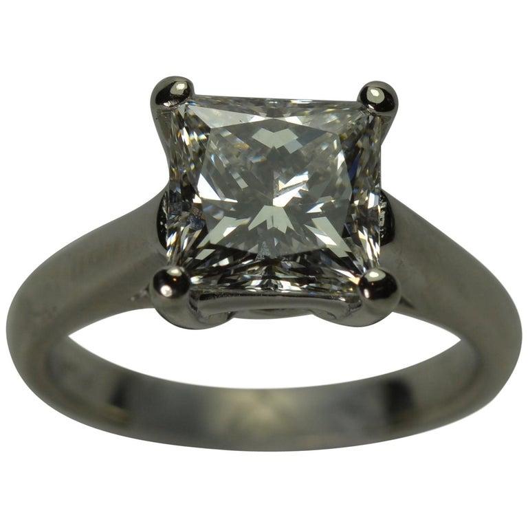 Ladies Platinum & Diamond 2.26 carat Solitaire Ring GIA certified T F Color VS2