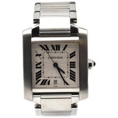 Ladies Medium Cartier Tank Francaise Stainless Steel Watch 2302