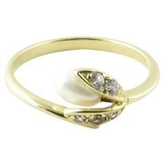 10 Karat Yellow Gold Seed Pearl Ring