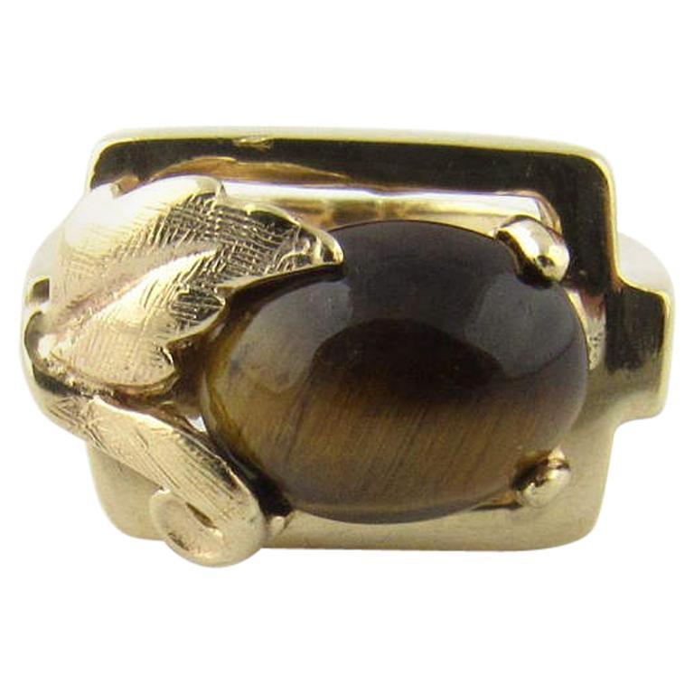 14 Karat Yellow Gold Tiger's Eye Ring