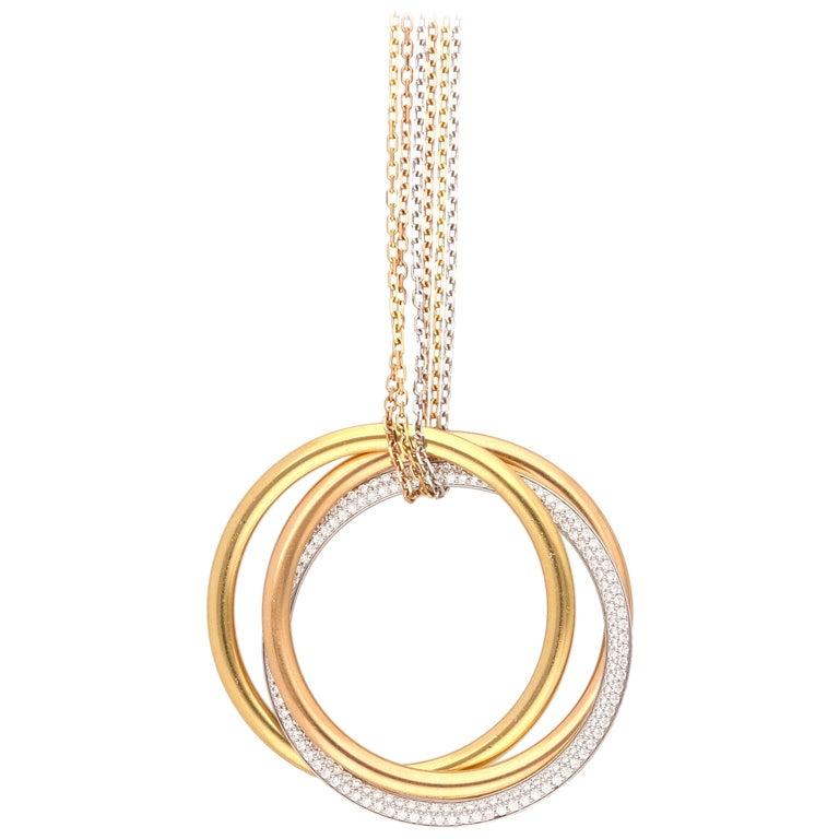Cartier Trinity 18 Karat Gold Diamonds Necklace