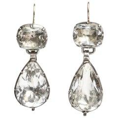 Antique Georgian Rock Crystal Earrings