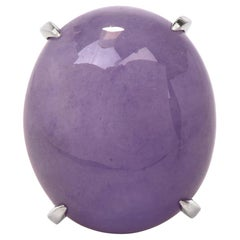 Lavender Jade Platinum Cocktail Dome Ring