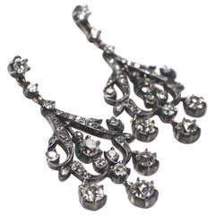 Antique Diamond Earrings, 1890s