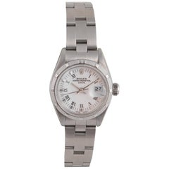 Rolex a Ladies Stainless Steel Automatic Calendar Bracelet Watch