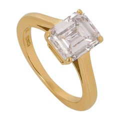 Cartier Diamond 1895 Solitaire Engagement Ring 1.84 Carat