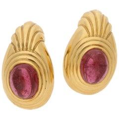 Boucheron Tourmaline Gold Clip Earrings