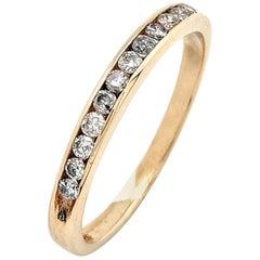 10 Karat Yellow Gold .25 Carat Diamond Stackable Anniversary Wedding Band Ring