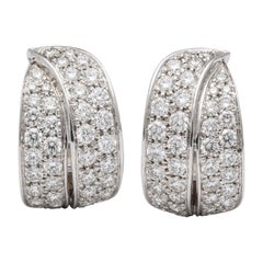 White Gold and Diamond Cocktail Earrings