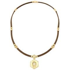 Charriol 18 Karat Diamond Pendant Necklace