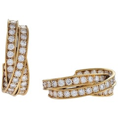 French Gold and Diamond Earrings by Cartier