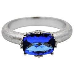 Luca Jouel Tanzanite Dress Ring in Platinum