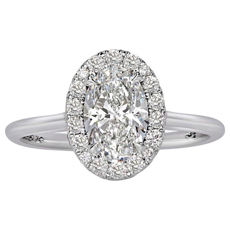 1.48 Carat Oval Cut Diamond Engagement Ring
