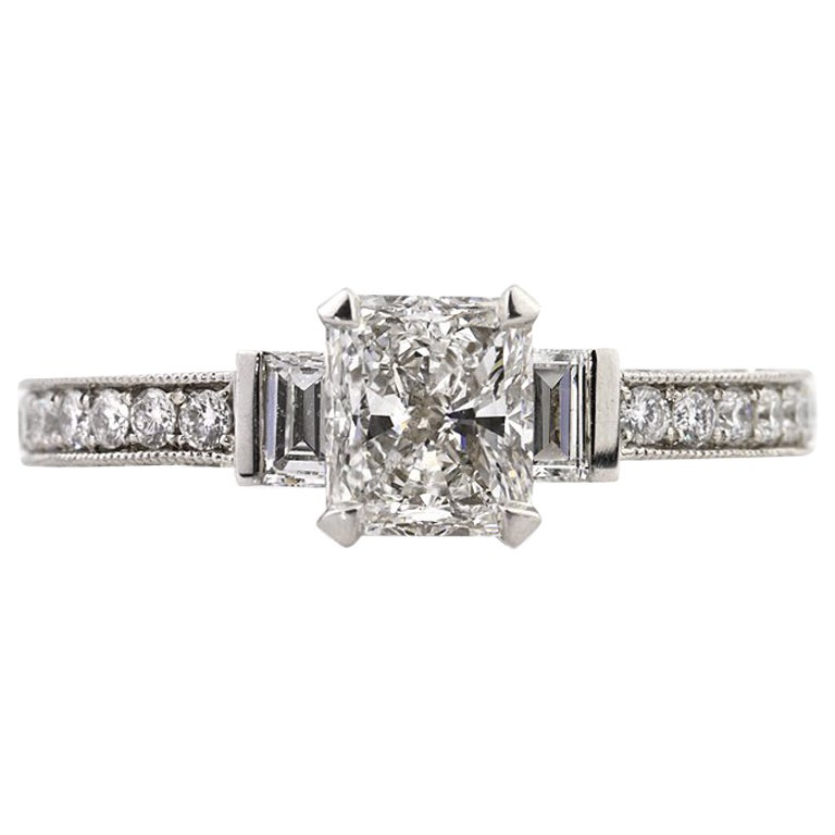 Mark Broumand 2.17 Carat Radiant Cut Diamond Engagement Ring