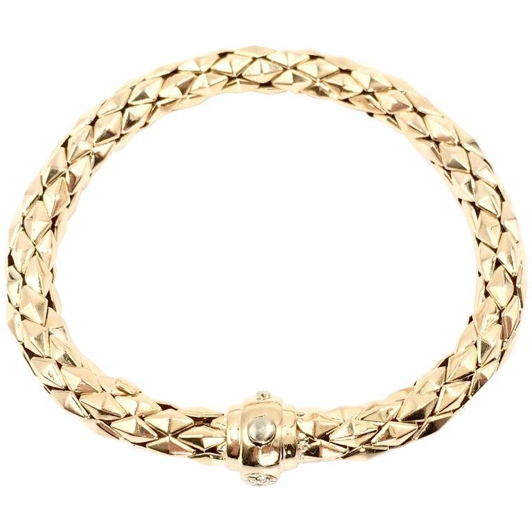 Chimento 18 Karat Yellow Gold Stretch Spring Bracelet