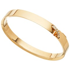 Chaumet Paris French, Liens Évidence Diamond Bangle Bracelet 18 Carat Gold