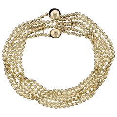 Cartier 18 Karat Yellow Gold Draperie Bracelet