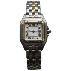 Cartier Ladies Panthere Model 6692 18 Karat Gold and Stainless Steel Model