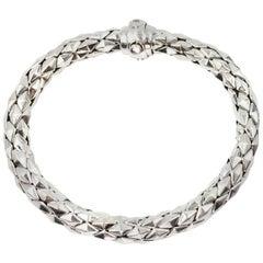 Chimento 18 Karat White Gold Stretch Spring Bracelet