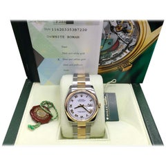 Rolex Datejust 116203 18K Yellow Gold and Stainless Steel White Dial, Box/Papers