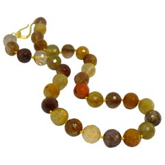 Decadent Jewels Golden Rutile Quartz Gold Necklace