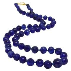 Decadent Jewels Ceylon Sapphire Graduated Gold Necklace