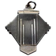 Solid Sterling Silver Art Deco Locket