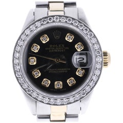 Certified 1982 Rolex Oyster Perpetual Datejust 6917 Black Dial