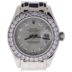 Certified 2001 Rolex Pearlmaster 80299PM Silver Dial
