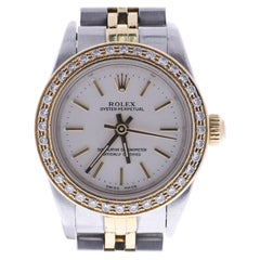 Certified 2002 Rolex Oyster Perpetual 76193 Silver Dial