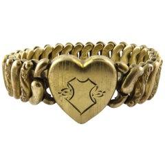 Pitman & Keeler American Queen Gold on Sterling Expansion Sweetheart Bracelet