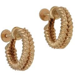 Cartier 14 Karat Gold Screw Back Earrings