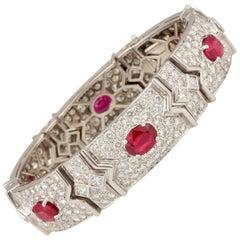 Ella Gafter Ruby and Diamond Bracelet
