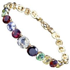 Antique Victorian Gemstone Bracelet 18 Carat Gold, circa 1880