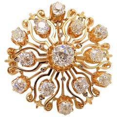Diamond Antique Brooch