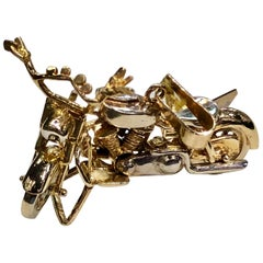 Gold Miniature Motorcycle