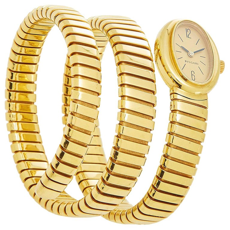 Bulgari Gold Tubogas Ladies Watch For Sale