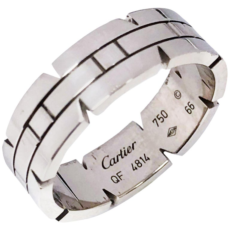 Cartier Tank Francaise White Gold Band Ring