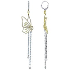 Studio Rêves 18 Karat Gold, Butterfly Dangling Earrings