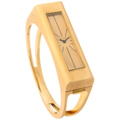 1970s Tiffany & Co. Yellow Gold Elongated Watch