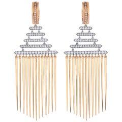 Rose Gold Diamond Chandelier Earrings