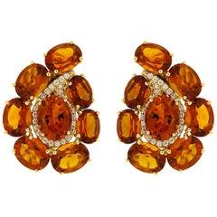 Valentin Magro Paisley Madeira Citrine and Diamond Earrings